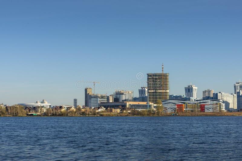 Widok na Minsk mieście, Białoruś obraz royalty free