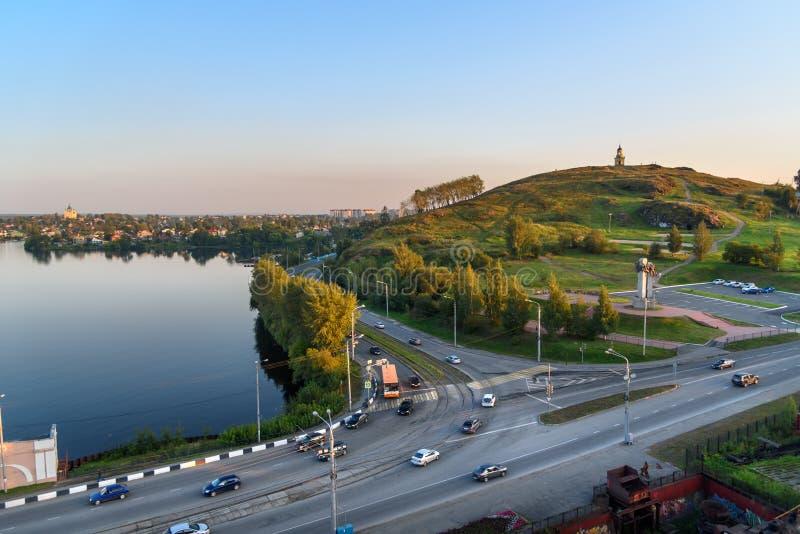 Widok na Nizhny Tagil Rosja zdjęcie stock