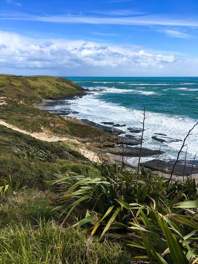 Widok na ocean od wybrze?a zdjęcia royalty free