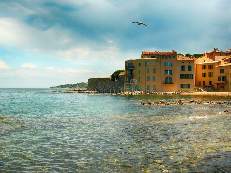 Widok na ocean w świętym Tropez w Francja obrazy stock