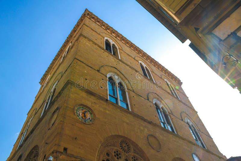 Widok na Orsanmichele kościół w Florencja obraz stock