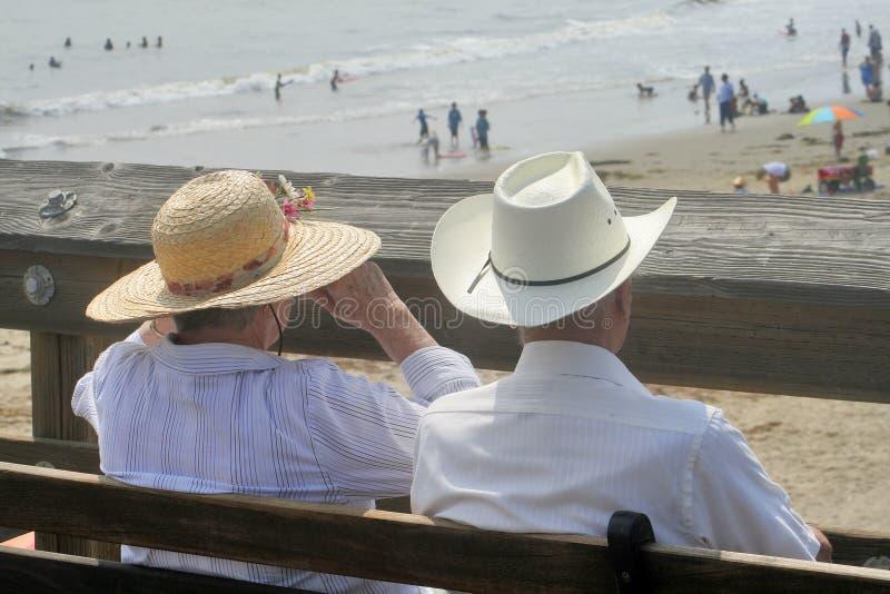 widok na plaży fotografia stock