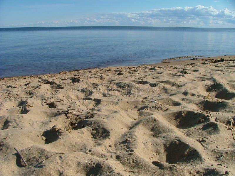 Download Widok na plaży zdjęcie stock. Obraz złożonej z feign, footprints - 126402