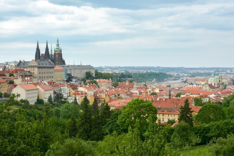Widok na Praga kasztelu w Praga obrazy royalty free