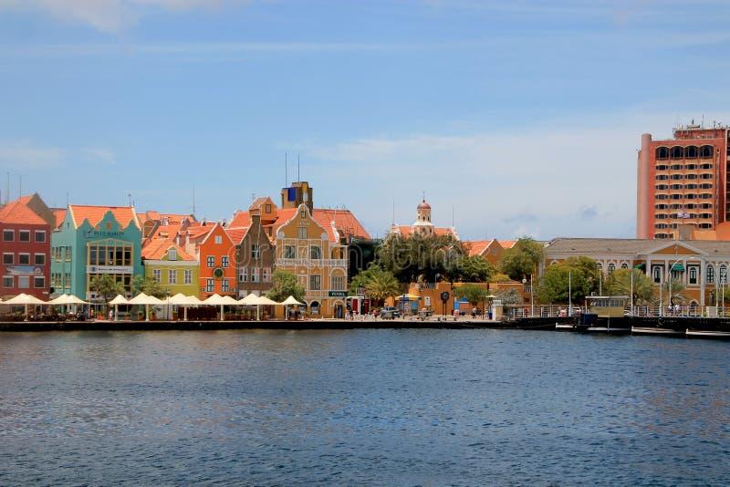 Widok na Punda, Wllemstad, Curacao zdjęcia royalty free