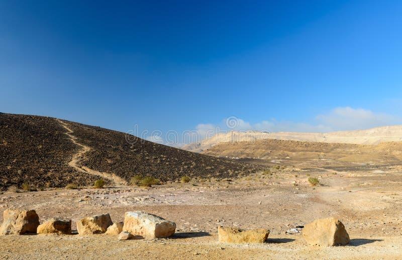 Widok na pustyni Negew zdjęcia stock