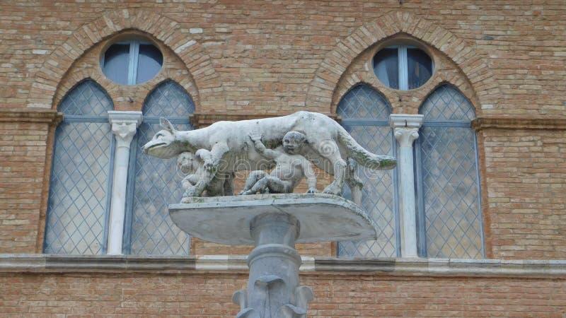 Widok na Siena waderze fotografia stock