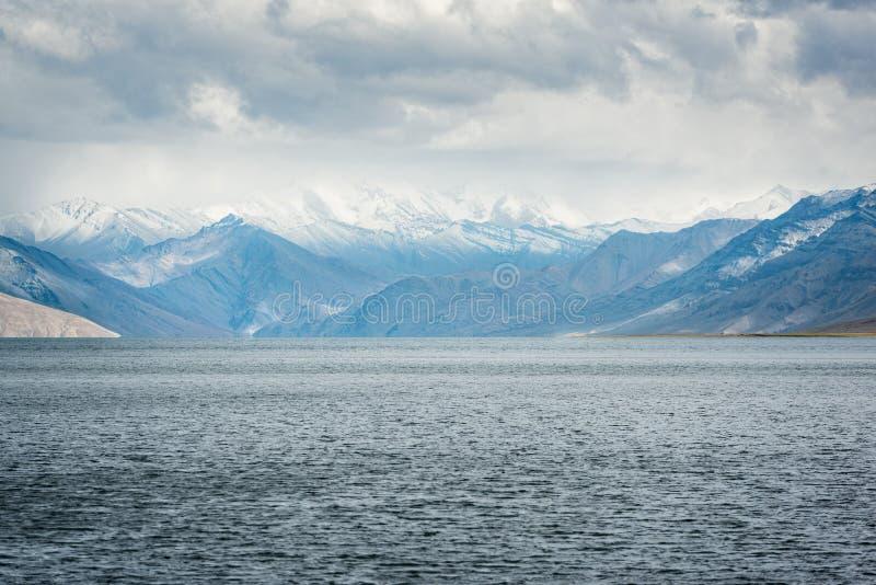 Widok na Tso Moriri Lake, Ladakh, indie fotografia royalty free