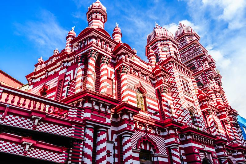 Widok na Ul meczecie lub rewolucjonistki Masjid meczecie jest historycznym meczetem w Kolombo, Sri Lanka fotografia stock
