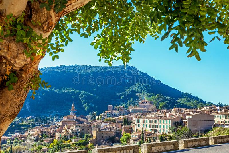 Widok na Valldemossa Mallorca zdjęcie royalty free