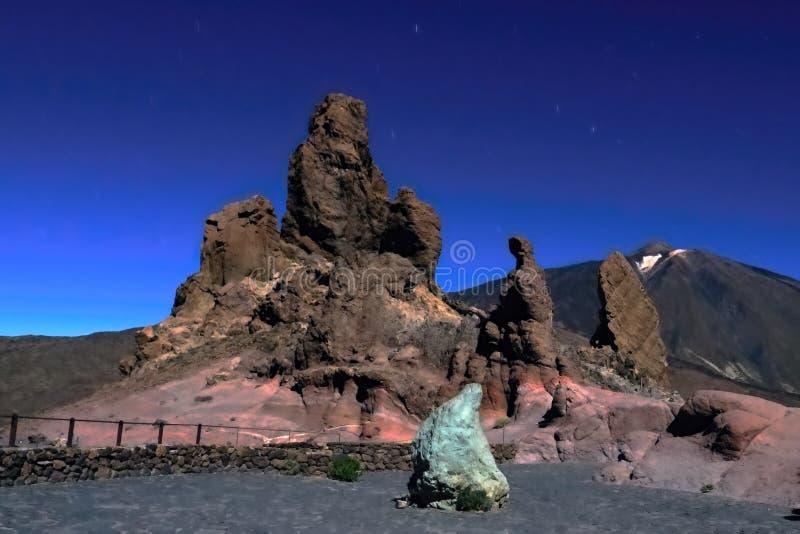 Widok na volcan Teide w parku narodowym Teneriffa fotografia stock