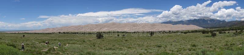 Widok na Wielkich piasek diunach Kolorado obraz royalty free