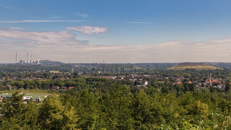 Widok nad Bottrop, Niemcy zdjęcia stock