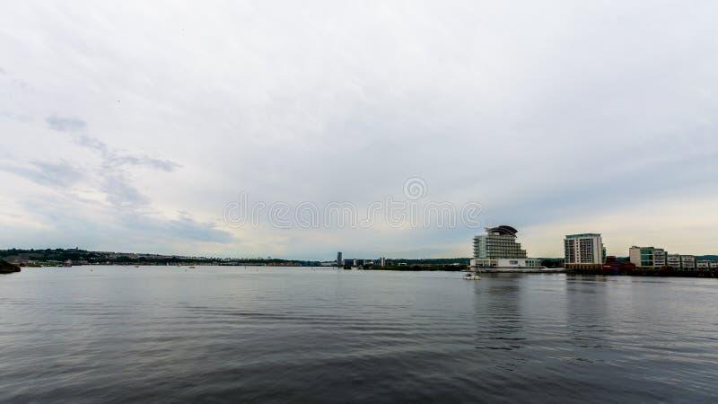 Widok Nad Cardiff zatoką A obrazy stock