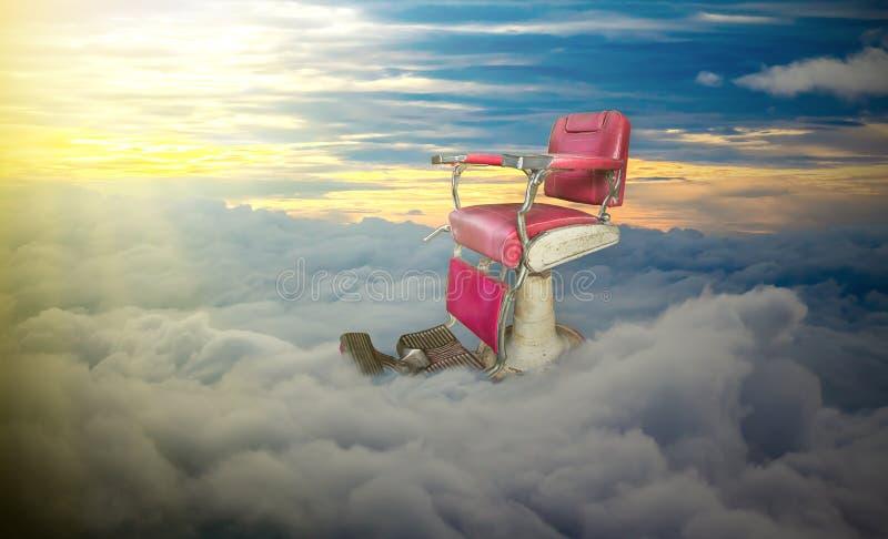 Widok Nad chmury, zmierzch Cloudscape obrazy royalty free