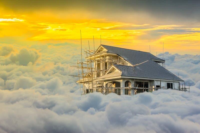Widok Nad chmury, zmierzch Cloudscape zdjęcie royalty free