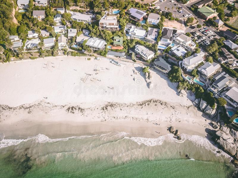 Widok nad clifton 4th plażą, przylądka grodzki zachodni przylądek obraz royalty free