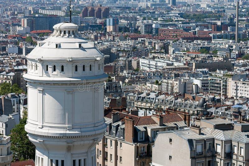 Widok nad dachami miasto Paryż, Paryż, Francja, Europa zdjęcia stock