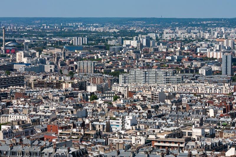 Widok nad dachami miasto Paryż, Paryż, Francja, Europa zdjęcie royalty free