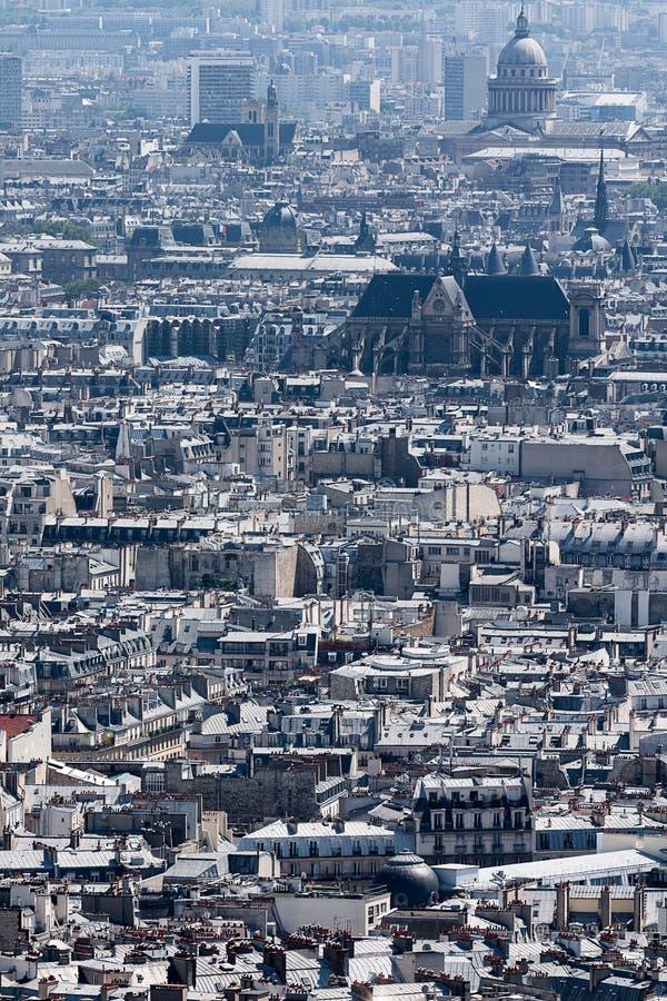 Widok nad dachami miasto Paryż, Paryż, Francja, Europa obrazy stock