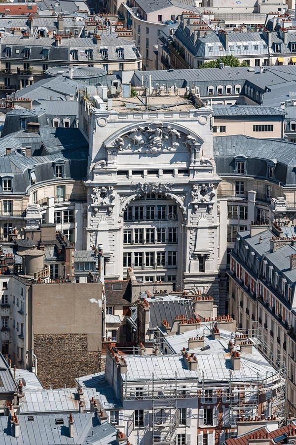 Widok nad dachami miasto Paryż, Paryż, Francja, Europa obraz stock