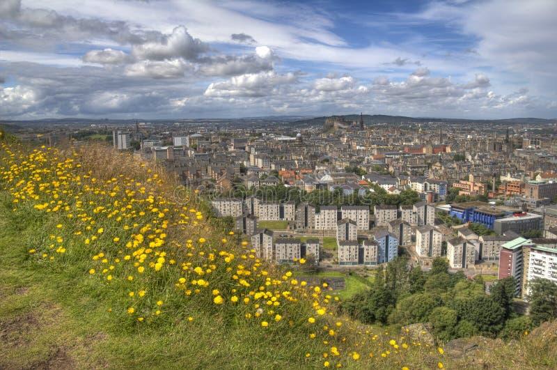 Widok nad Edynburg obrazy stock