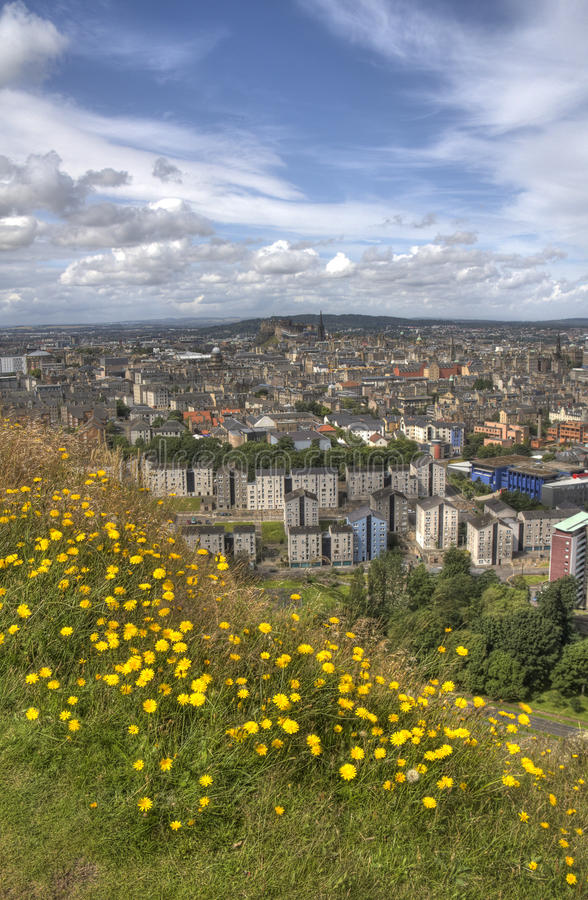 Widok nad Edynburg obrazy royalty free