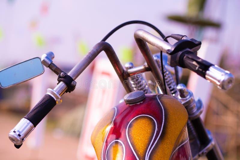 Widok nad handlebars motocykl obraz royalty free