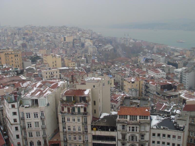 Widok nad Istanbuł Turcja obraz stock