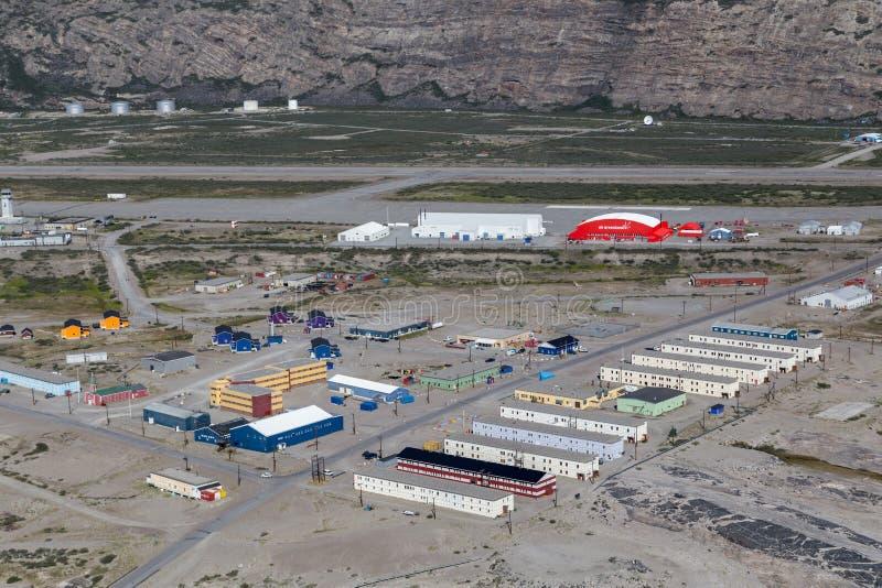Widok nad Kangerlussuaq, Greenland zdjęcie stock