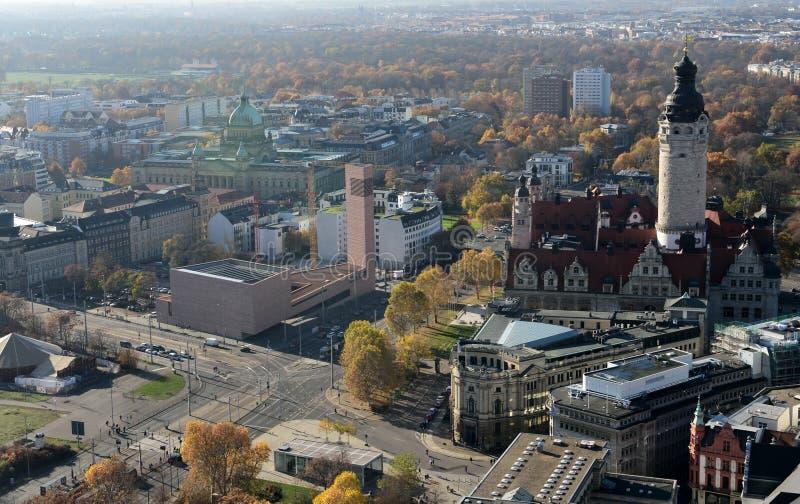 Widok nad Leipzig, Niemcy zdjęcia royalty free