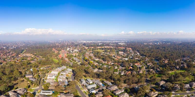 Widok nad Macleod w Melbourne zdjęcie stock