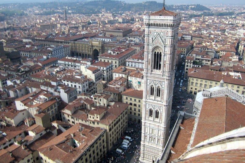 Widok nad miastem Florencja obraz stock