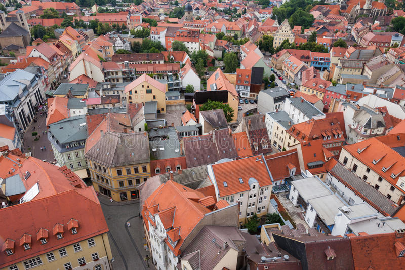 Widok nad Naumburg (Saale) fotografia royalty free