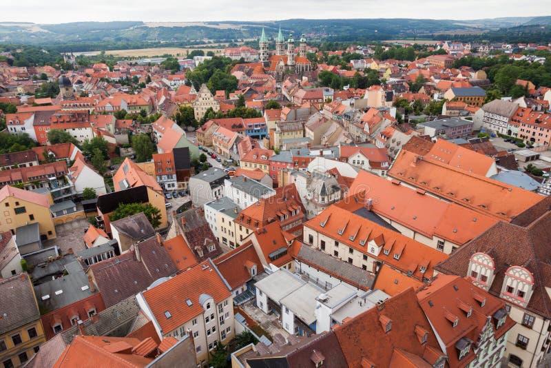 Widok nad Naumburg (Saale) obraz royalty free