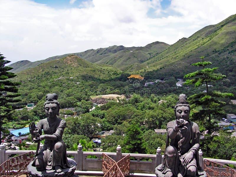 Widok nad Ngong śwista plateau na wyspie Lantau w Hong Kong zdjęcia stock