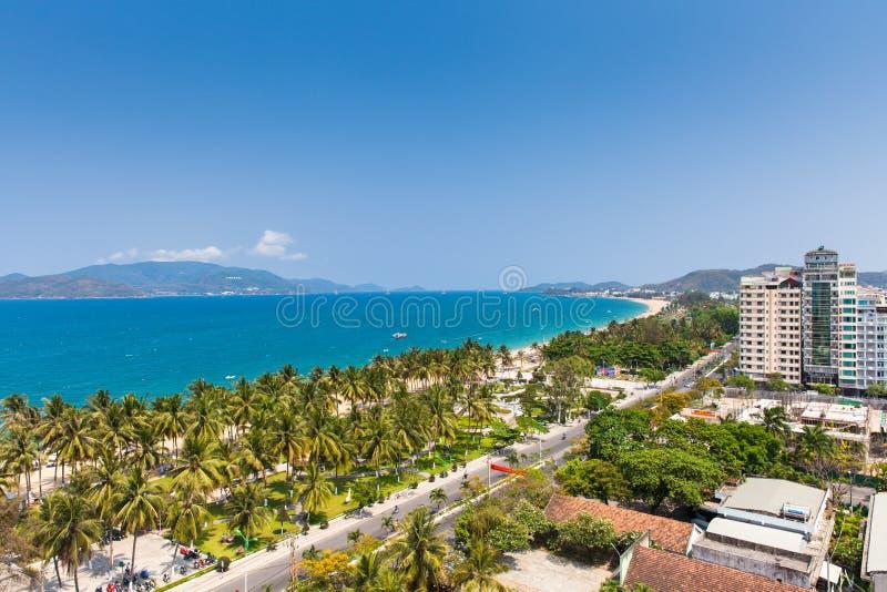 Widok nad Nha Trang miastem, Wietnam obraz royalty free