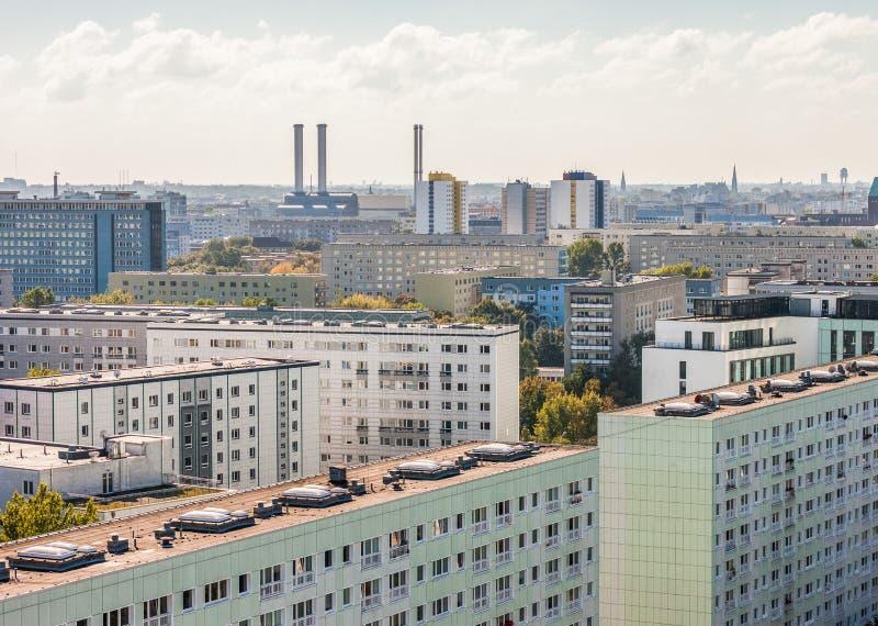 Widok nad poprzednim Wschodnim Berlin obraz stock