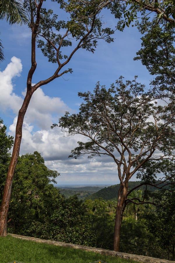 Widok nad Soroa stanem w Kuba obrazy royalty free