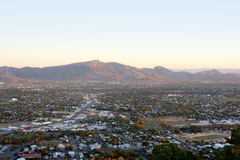 Widok nad Townsville Wspinać się Stuart w Queensland obraz royalty free