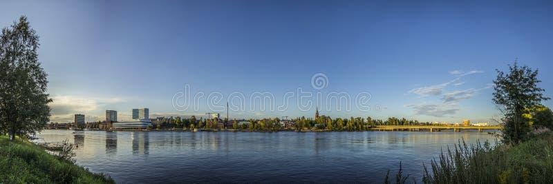 Widok nad UmeÃ¥, Szwecja zdjęcia royalty free