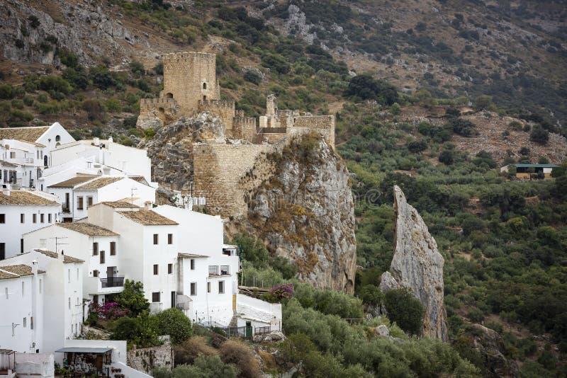 Widok nad Zuheros wioską i kasztelem obrazy stock