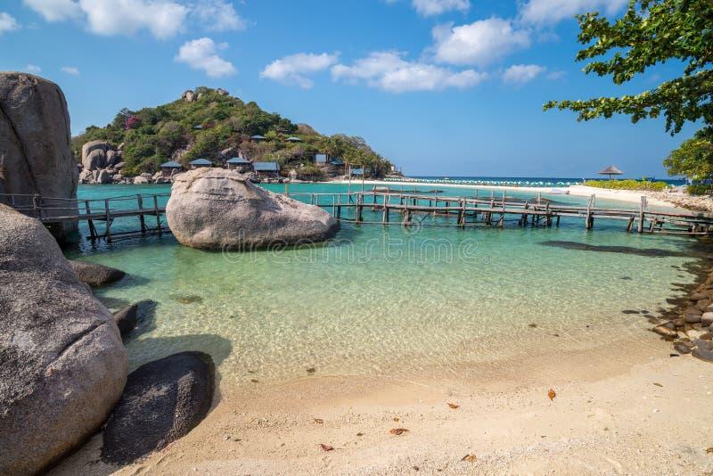 Widok Nang Juan wyspa Koh Tao wyspa Tajlandia fotografia royalty free