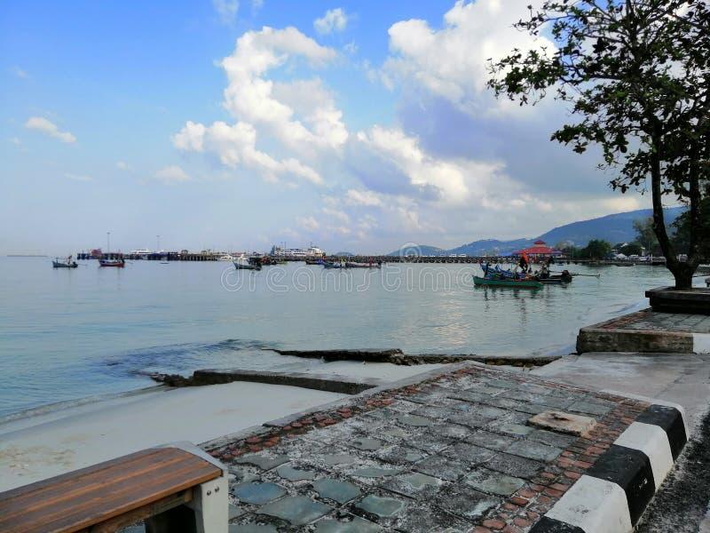 Widok Nathon Koh Samui Thailand zdjęcie stock