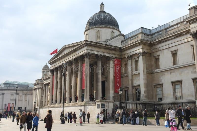 National Gallery, Londyn, Anglia zdjęcia stock