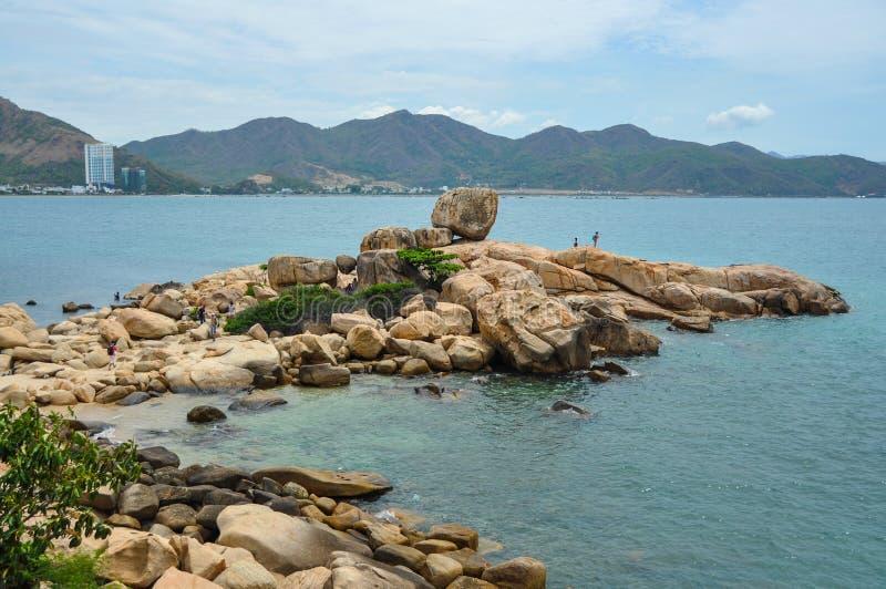Widok Nha Trang miasto od strony przeciwnej obrazy stock