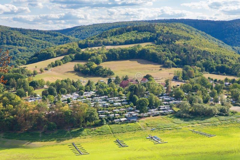Widok niemiec krajobraz w Sauerland obraz royalty free