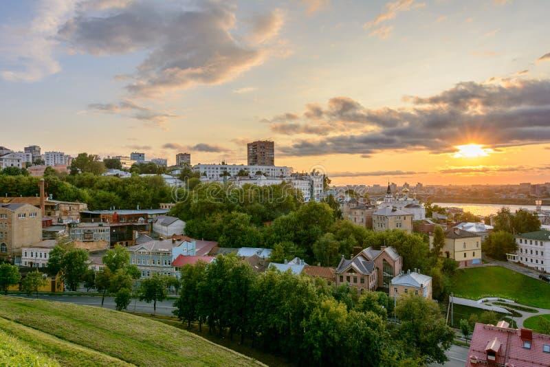 Widok Nizhny Novgorod, Rosja fotografia royalty free