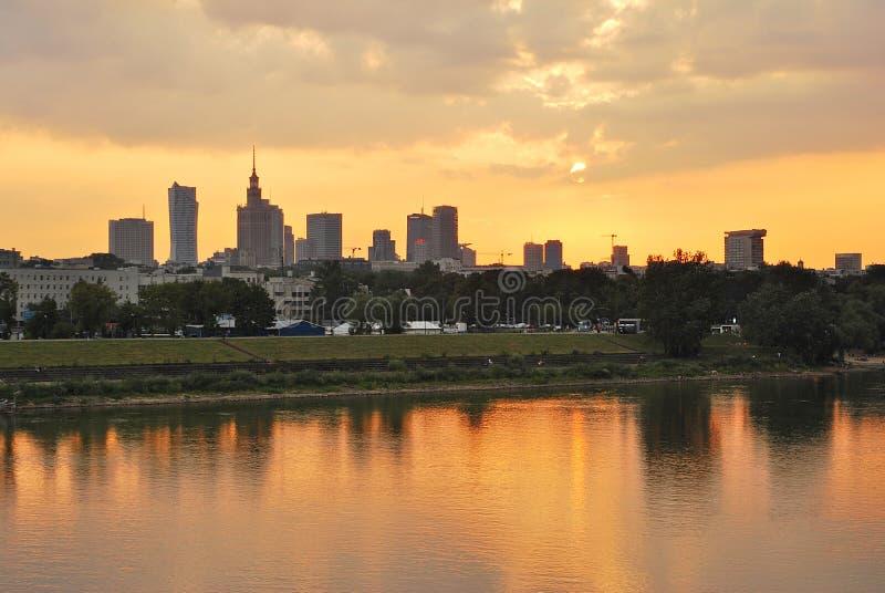Widok nowożytny centrum miasta fotografia royalty free