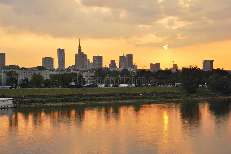 Widok nowożytny centrum miasta zdjęcia royalty free